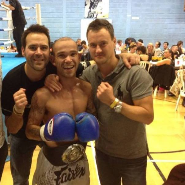 Winning the Southern Lightweight  WRSA area title 26/10/13, Muay Thai Mayhem Bristol