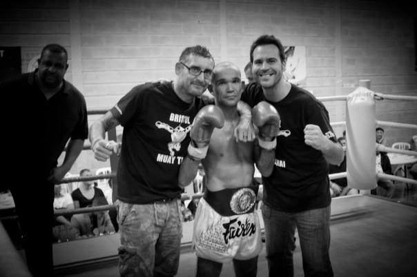 Me and my current trainers Craig Maynard (Left) and Jonny Munden (right) after my last fight